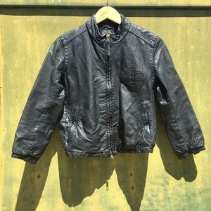 *Madewell Wearmaster* Black Moto Leather Jacket~